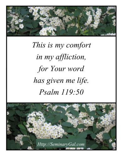 comfort in affliction