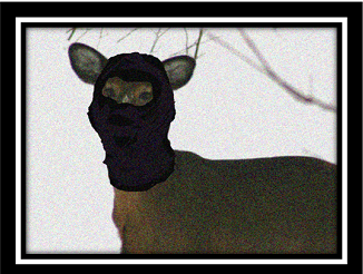 deer at the door w mask