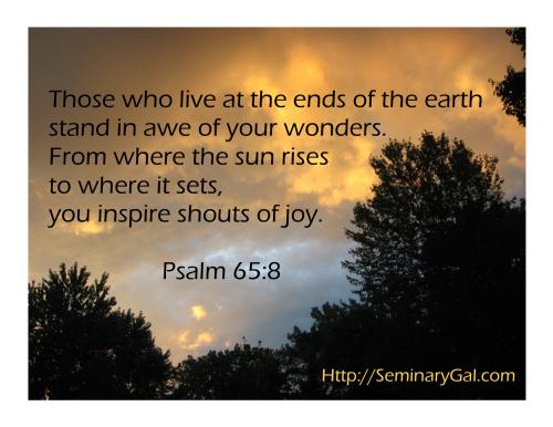 God inspires shouts of joy