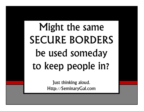 secure the borders