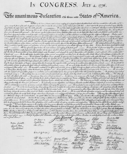 Let Freedom Ring Declaration of Independence