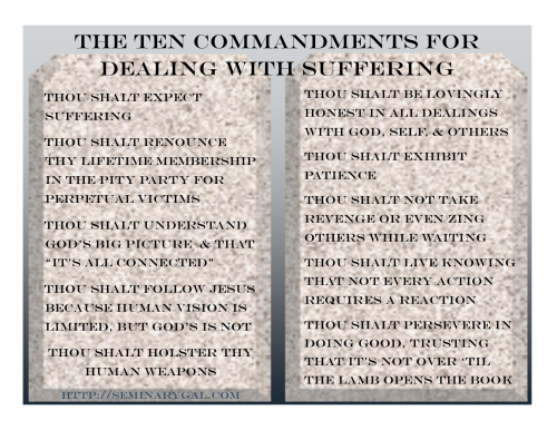 Sharpen Your Tools Ten Commandments for Suffering God's Way