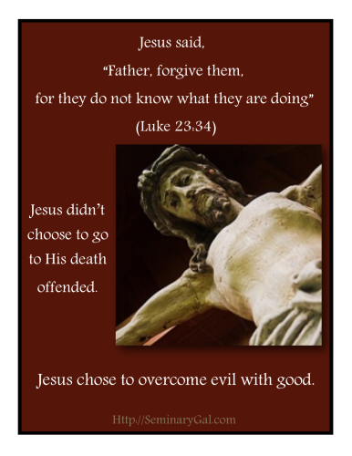 Father Forgive Them, Jesus rose above being offended