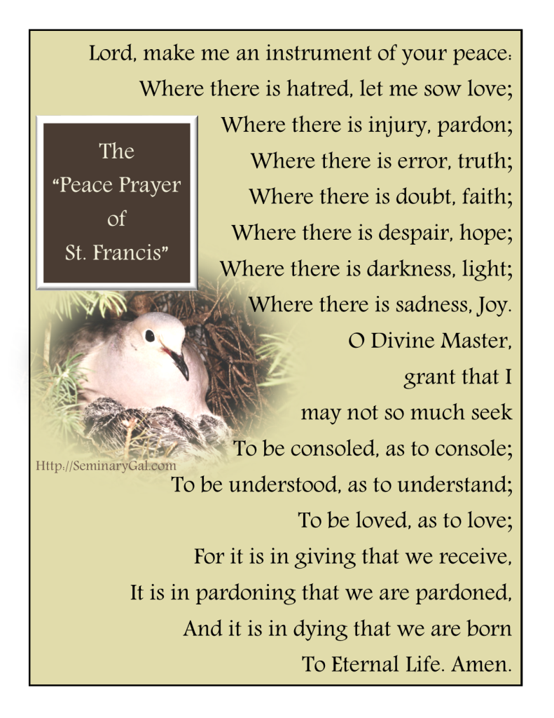 peace prayer of saint francis