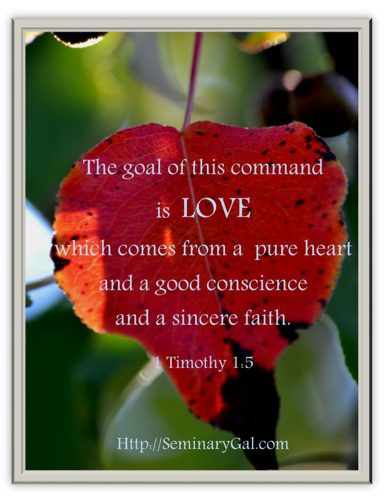 goal of command is love