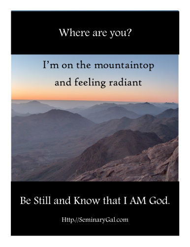 SGL 22_2014 where are you Moses on mountaintop