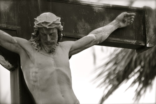 jesus cross black and white
