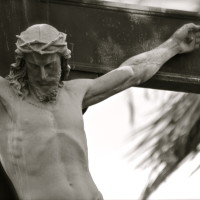 jesus cross black and white