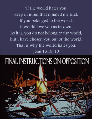 on opposition