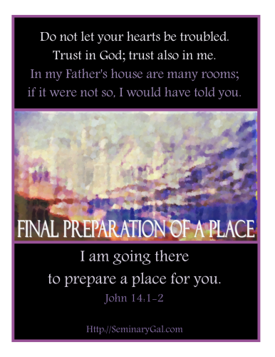 on preparing a place