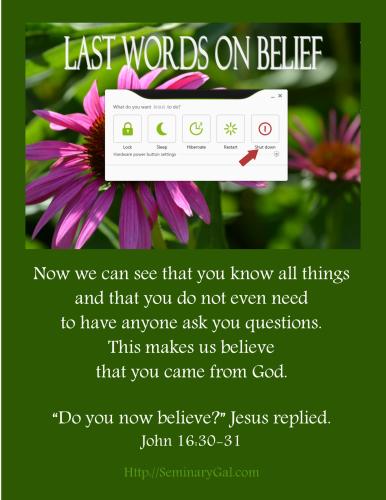 on superficial faith