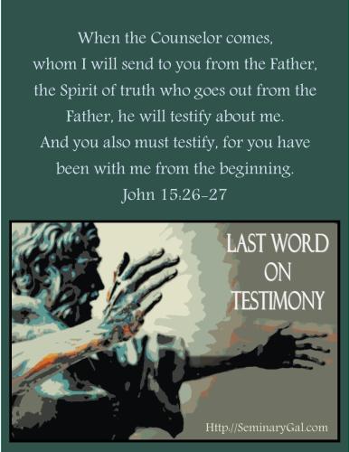 on testimony1