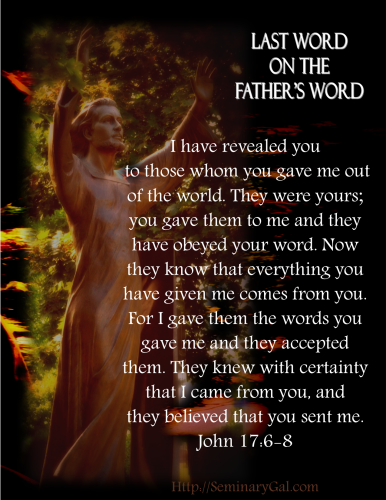 on the fathers word