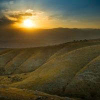 sunrise desert israel no frame