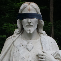 blindfolded Jesus
