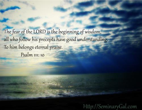 fear of God leads to understanding