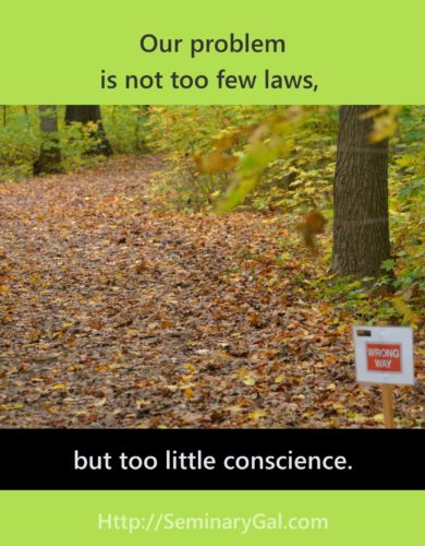 principles involving too little conscience
