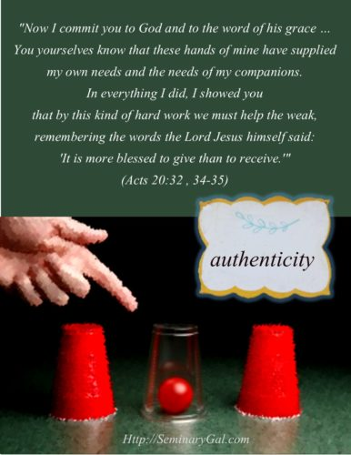 acts 20 transparency authenticity