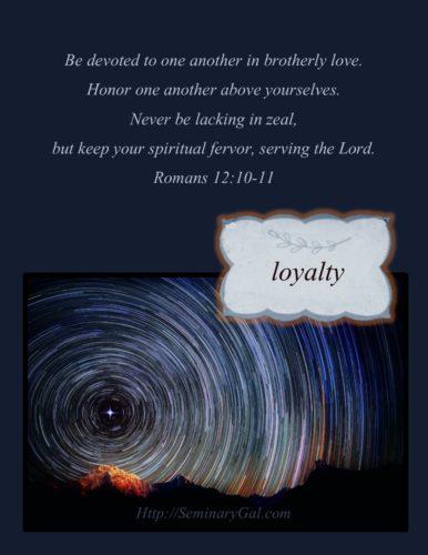 tiny virtues loyalty