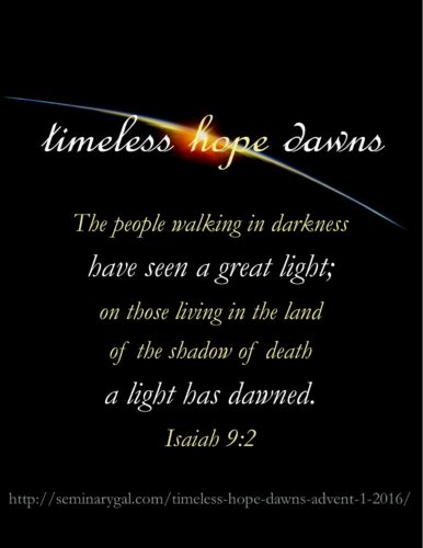 timeless hope dawns