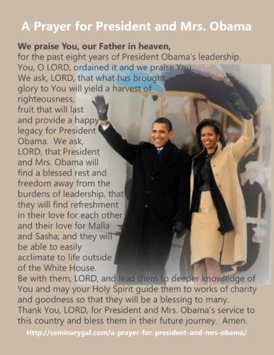 prayer for president and mrs obab