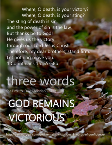 God Remains Victorious-3 Words of Confidence   Seminary Gal
